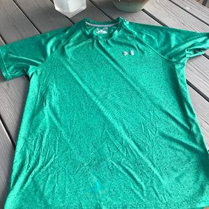 Under Armour Green Heat Gear Shirt ~ EUC